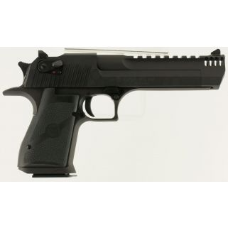 "Magnum Research Desert Eagle 44 Magnum 6"" Barrel W/ Combat-Fixed Sights-Integral Muzzle Brake 8+1 Black Oxide DE44IMB"