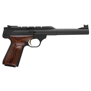 "Browning Buck Mark Hunter 22LR 7.25"" Barrel W/ TruGlo Fiber Optic-Pro Target Sights 10+1 Wood Grip/Matte Black 051499490"