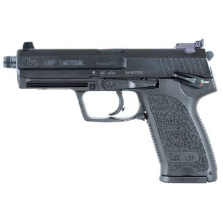 "Heckler & Koch USP9T Tactical 9mm Luger 4.3"" Barrel W/ Night Sights 15+1 3 Mags 709001TLEA5"