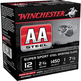 "Winchester AA Steel Super Sport 12 Gauge 7.5 Shot 2.75"" 25 Round Box AASCL12S7"