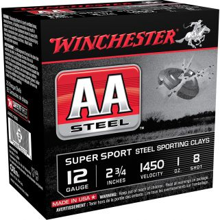 """Winchester AA Steel Target 12 Gauge 8 Shot 2.75"""" 25 Round Box AASCL12S8"""