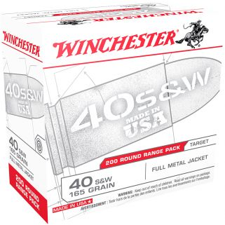 Winchester USA 40S&W 165 Grain FMJ 200 Round Box USA40W