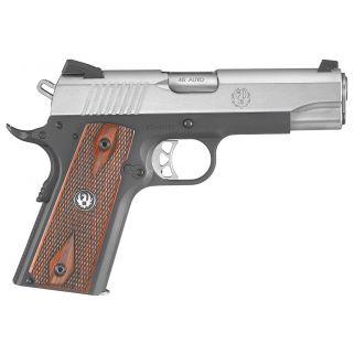 """Ruger SR1191 45ACP 4.25"""" Barrel 7+1 hardwood Grip Black/Stainless Steel 6711"""
