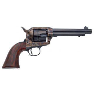 "Taylor's & Co 1873 Cattleman 22LR 5.5"" Barrel W/ Blade Front Sights 12Rd Walnut Grip/Blued 4052"
