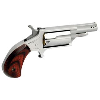 "NAA Mini Revolver 22 Magnum 1.625"" Ported Barrel W/ Half-Moon Sight 5Rd Rosewood Grip/Stainless 22MCP"