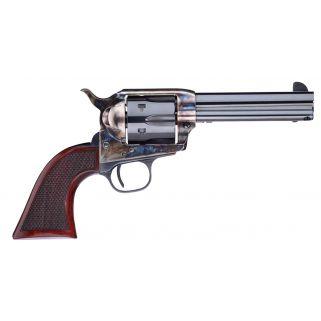 "Taylor's & Co Short Stroke Smoke Wagon 45 Colt 4.75"" Barrel W/ Blade Front Sight 6Rd Walnut Grip/Blued 556201DE"