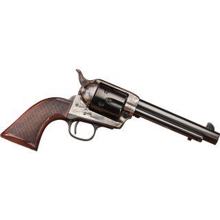 "Taylor's & Co Short Stroke Smoke Wagon 45 Colt 5.5"" Barrel W/ Blade Front Sight 6Rd Walnut Grip/Blued 556202DE"