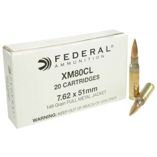 FED XM80CL 7.62X51(LC) 149 FMJ 20/25