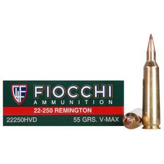 Fiocchi Shooting Dynamics 22-250 Remington 40 Grain V-Max 20 Round Box 22250HVB