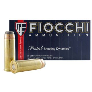 Fiocchi Shooting Dynamics 44 Magnum 240 Grain JSP 50 Round Box 44A500