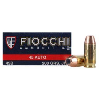 Fiocchi Shooting Dynamics 45ACP 200 Grain JHP 50 Round Box 45B500