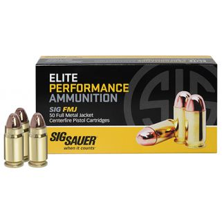 Sig Sauer Elite Ball FMJ 357 Magnum 125 Grain Brass 50 Box/20 Case E357MB50