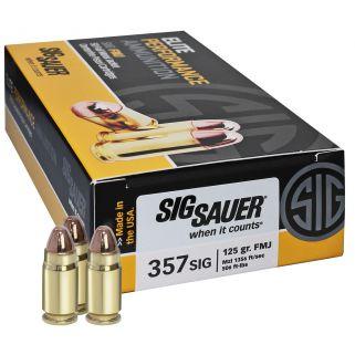 Sig Sauer Elite 357SIG 124 Grain FMJ 50Rd Box E357B1