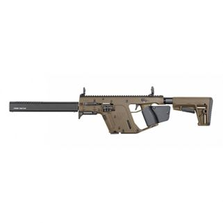 "Kriss Vector CRB Gen II 45ACP 16"" Barrel W/ Flip-Adjustable Sights 10+1 *CA Compliant* Flat Dark Earth KRIKV45-CFD22"