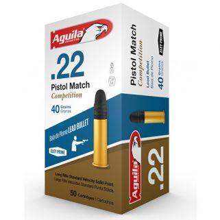 Aguila Pistol Match 22LR 40 Grain Lead RN 5000Rd Case