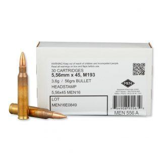 MEN 5.56 NATO 56gr FMJ - 30 Rd Box MEN556A