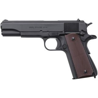 "Auto-Ordnance 1911A1 45ACP 5"" Barrel W/ Drift Adjustable Rear-Blade Front Sights 7+1 Brown Grip/Matte Black 1911BKO"