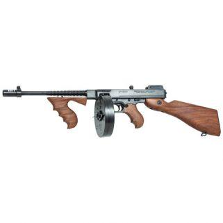"""Auto-Ordnance Thompson 1927A1 45ACP 16.5"""" Barrel W/ Blade-Adjustable Sights 20+1/100+1 Walnut Stock/Black T1100D"""