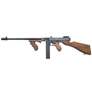 "Auto-Ordnance Thompson 1927A1 45ACP 14.5"" Barrel W/ Blade Front-Open Rear Adjustable Sights 20+1 Walnut Stock/Blued T114"