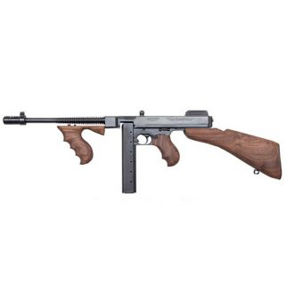 "Auto-Ordnance Thompson SBR 45ACP 10.5"" Barrel W/ Blade Front-Open Adjustable Rear Sights 30+1 Walnut Stock/Black T1BSB"