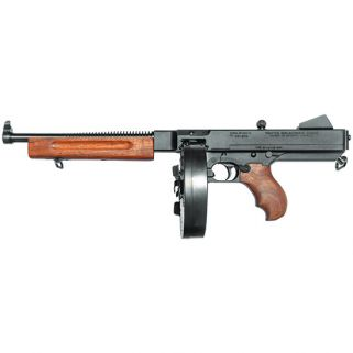 "Auto-Ordnance Thompson 1927A1 Lightweight Deluxe 45ACP 10.5"" Barrel W/ Blade-Fixed Sights 10+1 Walnut Stock/Black TA510D"