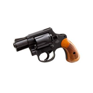 "Rock Island M206 Spurless 38 Special 2"" Barrel W/ Fixed Sights 6Rd Wood Grip/Parkerized 51280"