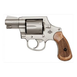 "Rock Island M206 Spurless 38 Special 2"" Barrel W/ Fixed Sights 6Rd Wood Grip/Matte Nickel 51289"