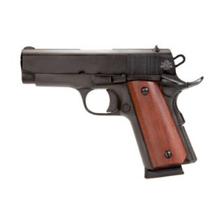 "Rock Island 1911 Standard GI 45ACP 3.5"" Barrel W/ Fixed Sights 7+1 Wood Grip/Parkerized 51416"