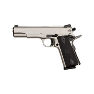 "Rock Island 1911 Standard GI 45ACP 5"" Barrel 8+1 Black Grip/Nickel 51448"