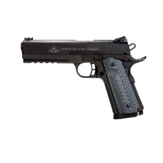 "Rock Island 1911 Tac Series Ultra FS 45ACP 5"" Barrel W/ Adjustable Sights 8+1 VZ Tactical Grip/Parkerized 51485"