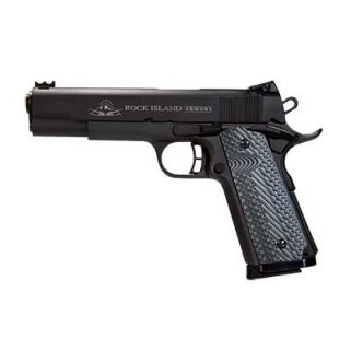 "Rock Island 1911 Ultra MS 45ACP 4.2"" Barrel W/ Adjustable Sights 8+1 VZ Tactical Grip/Parkerized 51487"