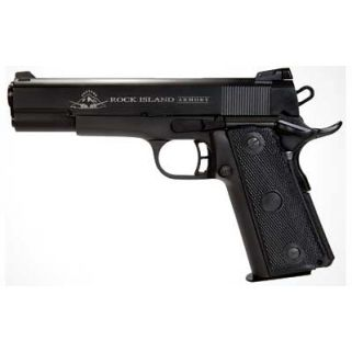 "Rock Island 1911 Standard FS 22TCM/9mm 5"" Barrel W/ Fixed Sights 17+1 Parkerized 51687"