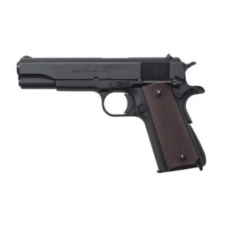 "Auto Ordnance 1911A1 GI 9mm 5"" Barrel W/ Drift Adjustable Rear-Blade Front Sights 7+1 Brown Grip/Matte Black 1911BKO9"