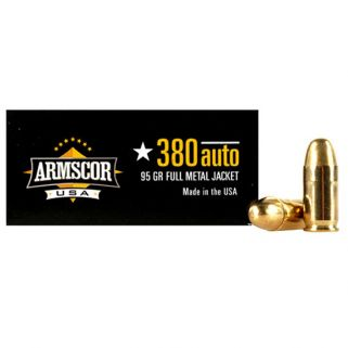 Armscor 380ACP 95 Grain FMJ 50 Round Box FAC3802N