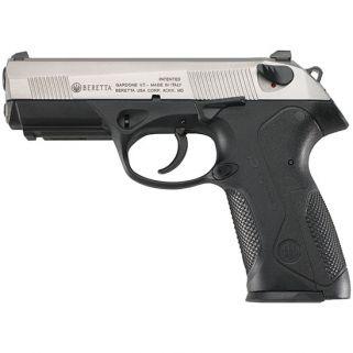 """Beretta Px4 Storm Inox 9mm Luger 4"""" Barrel 17+1 Black/Stainless JXF9F51"""