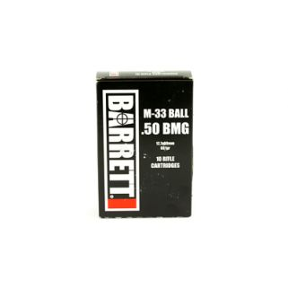 Barrett M-33 Ball 50BMG 661 Grain FMJ 10 Round Box 14670
