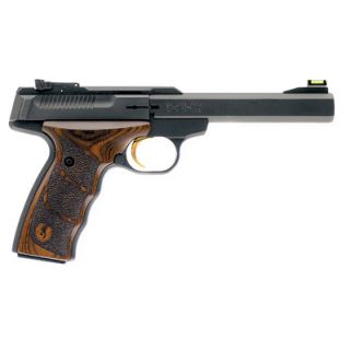 "Browning Buck Mark Plus 22LR 5.5"" Barrel W/ TruGlo Fiber Optic-Pro Target Sights 10+1 Textured Wood Grips/Black 051428490"