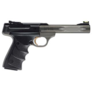 "Browning Buck Mark Practical 22LR 5.5"" Barrel W/ TruGlo Fiber Optic-Pro Target Sights 10+1 Black/Anodized Gray 051461490"