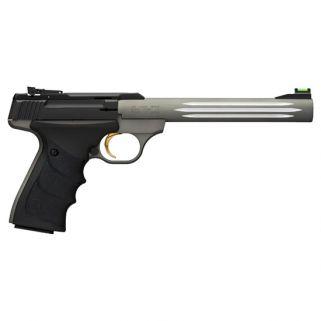 "Browning Buck Mark 22LR 7.25"" Barrel W/ TruGlo Fiber Optic-Pro Target Sights 10+1 Matte Black/Anodized Gray 051462490"