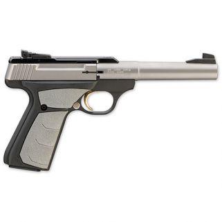 "Browning Buck Mark Camper UFX 22LR 5.5"" Barrel W/ Pro Target Sights 10+1 Textured Grey Grips/Matte Stainless 051483490"