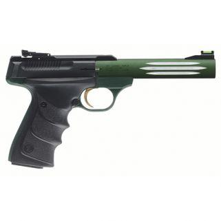 "Browning Buck Mark 22LR 5.5"" Barrel W/ TruGlo Fiber Optic-Pro Target Sights 10+1 Black/Matte Green 051516490"