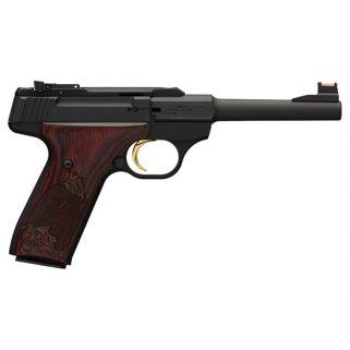 """Browning Buck Mark Challenge 22LR 5.5"""" Barrel W/ TruGlo Fiber Optic-Pro Target Sights 10+1 Rosewood Grips/Matte Black 051519490"""
