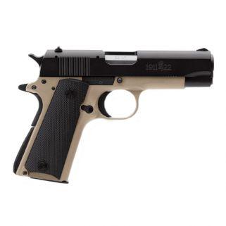 "Browning 1911-22 A1 Compact 22LR 3.625"" Barrel W/A1 Sights 10+1 Desert Tan/Black 051810490"