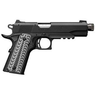 """Browning 1911-22 Black Label 22LR 4.875"""" Barrel W/ White Dot Sights 10+1 Matte Black 051820490"""