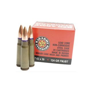 Century Red Army Standard 7.62X39mm 124 Grain FMJ 20 Round Box AM2423