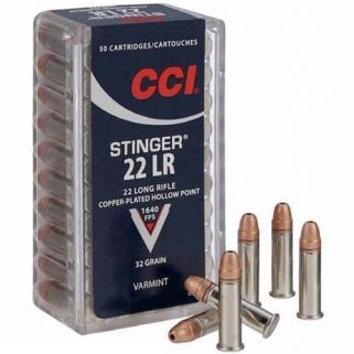 CCI Stinger 22LR 32 Grain CPHP 50Rd Box 0050