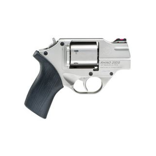 "Chiappa Rhino 200DS 357 Magnum/38 Special 2"" Barrel 6Rd Black Rubber Grip/Nickel CF340-218"