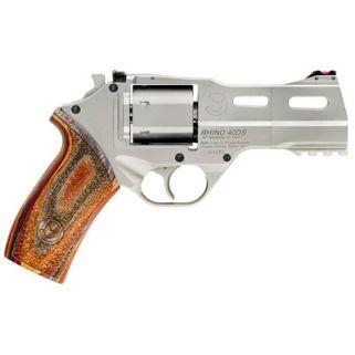 """Chiappa Rhino 50DS 9mm 5"""" Barrel W/ Fiber Optic Sights 6Rd Walnut Grip/Black 340-245"""