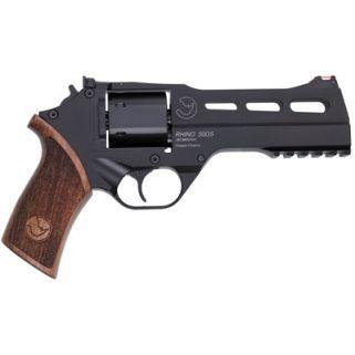 """Chiappa Rhino 357 Magnum 5"""" Barrel W/ Fiber Optic Sights 6Rd Walnut Grip/Black 340-246"""