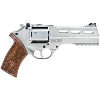 "Chiappa Rhino 357 Magnum 5"" Barrel W/ Fiber Optic Sights 6Rd Walnut Grip/Nickel 340-247"